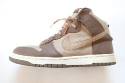 2001 Nike Dunk High Plus B Stussy US11 29cm 302763 221 Ostrich $398.00