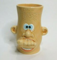 Vintage Large Novelty Coffee Cup Chronic Foot In Mouth Syndrome 5.5quot; HTF $16.99