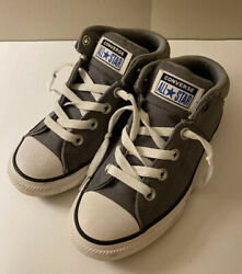 Converse All Star High Top Gray Kids Size 1 Worn Once $19.99