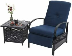 Patio Recliner Tables Lounger Adjustable With Cushion Outdoor Table Chair Sets $339.99