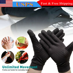 Copper Compression Arthritis Gloves Finger Fit Carpal Tunnel Typing Support Hand $10.19