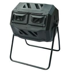 Chambers Composting Tumbler 42 Gallon Dual Outdoor Gardening Large Compost Bin $64.99