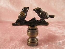 2 Birds In Branches LAMP FINIAL for old antique shade or lampshade $12.95