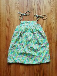 FRED BARE Australia Designer Girls Cotton Floral Sun Dress Sz 7 EUC $140