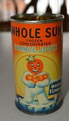Vintage Whole Sun Orange Juice Can Winter Garden Florida Orange Man Graphics $24.99