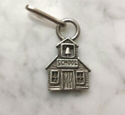 CUTE FOR CHILDREN 6 OLD SCHOOL HOUSE PEWTER ZIPPER PULLS or PENDANTS ALL New.