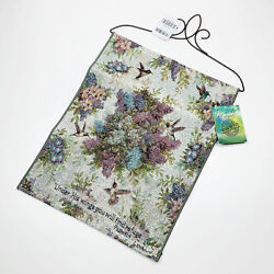Whisper Wings Hummingbirds amp; Floral Tapestry Bannerette Wall Hanging with Verse $12.59