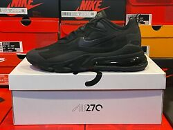Nike Men#x27;s Air Max 270 REACT TRIPLE BLACK Running Shoes CI3866 003 *** SIZE 13 $119.99