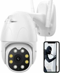 OD10 Home Security Outdoor Camera 1080P PTZ WiFi Night Vision Pan Tilt Zoom IP65 $25.99