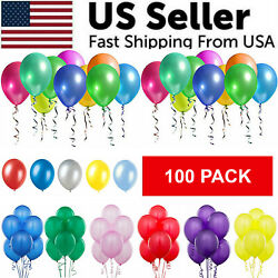 100PCS Colorful Latex Balloon 10 Inch Wedding Birthday Bachelorette Party Decor $6.19