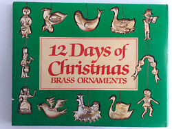 VINTAGE 12 DAYS OF CHRISTMAS BRASS ORNAMENTS TAIWAN $16.00