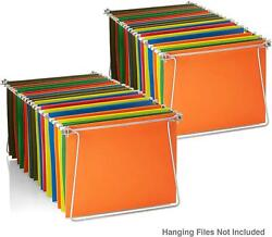 Hanging File Frames Letter Size Rails fits 24quot; to 27quot; Files Cabinet Steel 2 Sets $14.76