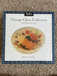 Stiffel Vintage Lamp Shade Glass Bowl Hand Painted Heritage Series New In Box $38.00