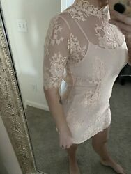 pink lace dresses for women SIZE MEDIUM $12.00