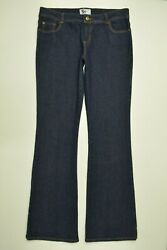 SO Size 13 LONG Juniors Women FLARE STRETCH Denim EMBROIDERED Dark Blue Jeans $17.00