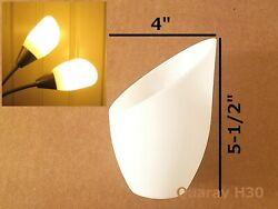 2 Pack Quaray H30 Replacement Plastic Lamp Shade for Torchiere Floor Lamp $9.88