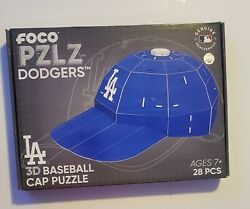 MLB Los Angeles Dodgers Baseball Hat 3D Paper Puzzle 28 Piece Cap Licensed NEW $15.00