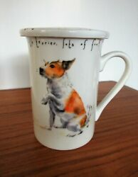 Kent Pottery quot;Scruffy Dogquot; 4 1 4quot; Terrier Tea Mug With Cover Perfect Condition $15.00