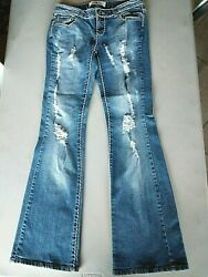 FIFTH CULTURE Women Junior Size 5 Really Distressed Jeans $3.99