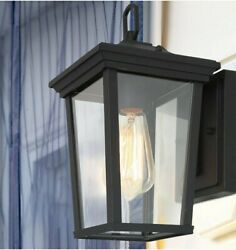 LALUZ Outdoor Wall Sconce Farmhouse Exterior Light Fixtures Clear Glass. 839
