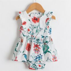Baby and Mother Flower Girls Beach Holiday Floral Suspender Summer Dress $13.99
