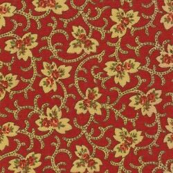 Covington FENIA Floral ANTIQUE RED Home Decor Drapery Curtain Sewing Fabric BTY $12.99