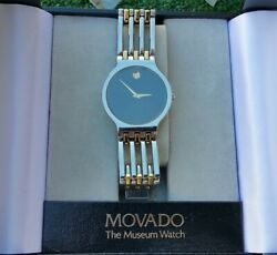 MOVADO ESPERANZA Museum Watch Stainless 2 Tone Bracelet and Case 84.19.861 1.4 $199.00