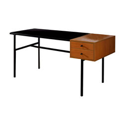 Saltoro Sherpi 2 Drawer Desk With Wooden Table Top And Metal Frame Black And $631.36