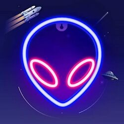 LED Alien Neon Sign Cool Light For Wall Bedroom Decor For kids Halloween Gifts $15.00