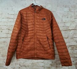 The North Face Men#x27;s Thermoball Jacket Brown Orange Small $49.99