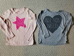 J Crew Crewcuts Collectibles Girls Long Sleeve Tops Lot of 2 Size 8 $14.99
