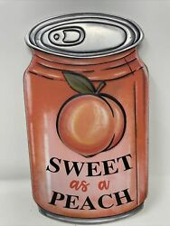 Hanging Wood Sign quot;Sweet As A Peachquot; Soda Can 10 1 2quot; X 6quot; NEW $18.95