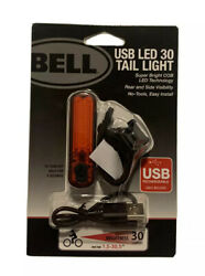 Bell USB LED 30 Lumens Tail Light Bicycle Bike Rechargeable Super Bright COB NEW $15.99