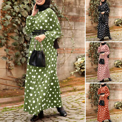Women Muslim Islamic Farasha Morocco Ladies Party Gown Long Maxi Shirt Dress NEW $17.85