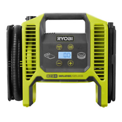 Ryobi 18V Portable Air Compressor Cordless Tire Inflator Deflator Car Bike Pump $48.22