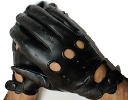 Genuine leather gloves Driving men#x27;s perfect Fit Premium quality black $19.99