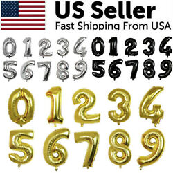 32quot; Large Number Foil Balloon Digit Balloons Birthday Anniversary Decor Party US $3.79