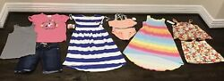 Girls Summer 10 lot 130 7 8 Hanna justice Gymboree Levis some NWT Vacay ready $49.10