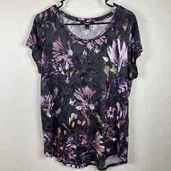 Simply Vera Floral Short Sleeve Top L $9.88