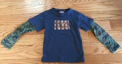 City Threads Designer Boys Kids Children Long Sleeve Tee Shirt Top. Size 4. Blue