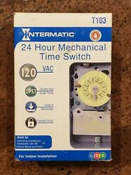 Intermatic T103 40A 120V 24 Hour Mechanical Timer Switch with Indoor Enclosure