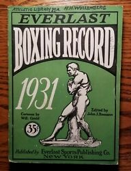 1931 Everlast Boxing Record Book Guide Heavy Weight Champion Max Schmeling $48.30