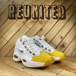 Reebok Question Mid Gold Toe Size 8 Kobe Iverson FX4278 $190.00