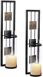 Shelving Solution Wall Sconce Candle Holder Metal Wall Decorations Set of 2 $35.10