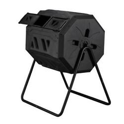 42 Gallons Compost Bin Garden Composting Tumbler with 2 Chambers Dual Rotating $69.90