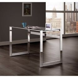 Elegantly Charmed Metal Writing Desk Silver $400.93