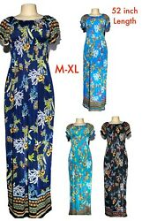 Women#x27;s Casual Evening Party Long Summer Short Sleeve Boho Maxi Dress M XL 328 1 $14.99