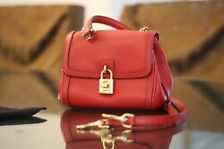 Dolce And Gabbana Padlock Crossbody Bag Small With Strap $375.00