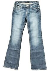 Banana Republic Factory Size 28 Long Low Bootcut Distressed Whiskered Jean