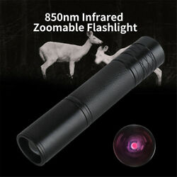 IR LED Illuminator Flashlight For Infrared Night Vision Device Zoomable 850nm $17.99